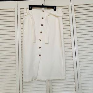 White House black market buttons down skirt